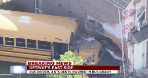 Concraft Performs Cleanup and Restoration After Detroit School Bus Crash