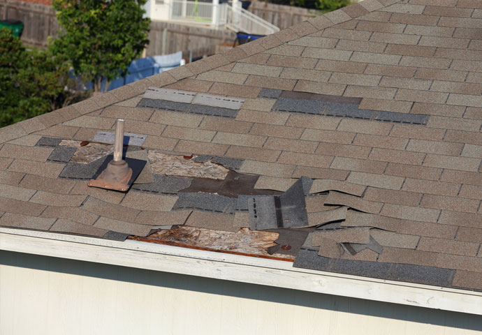 wind and hail damage roof